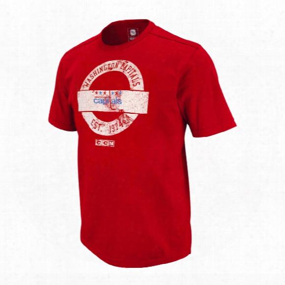 Washington Capitals Retro Applique Jersey T-shirt