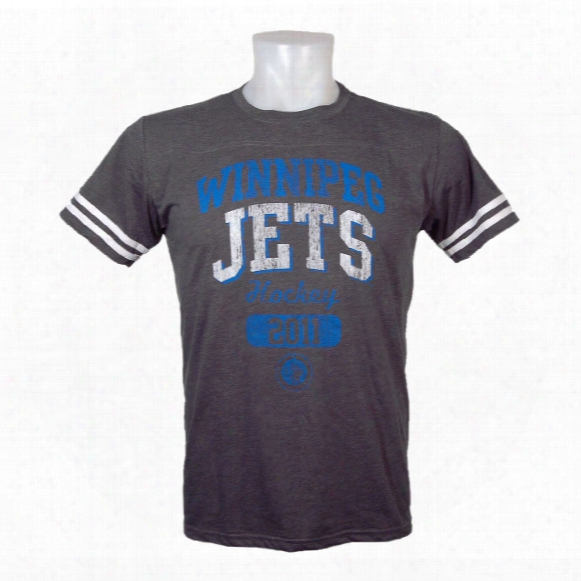 Winnipeg Jets Tri-blend Yoke T-shirt