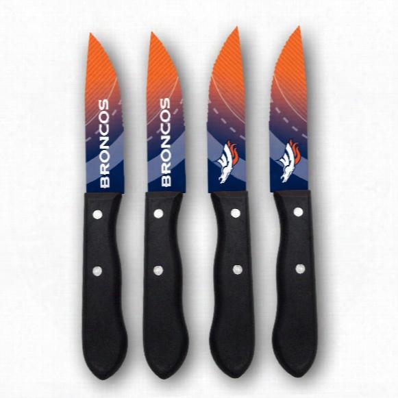 Denver Broncos Steak Knives (4-piece Set)