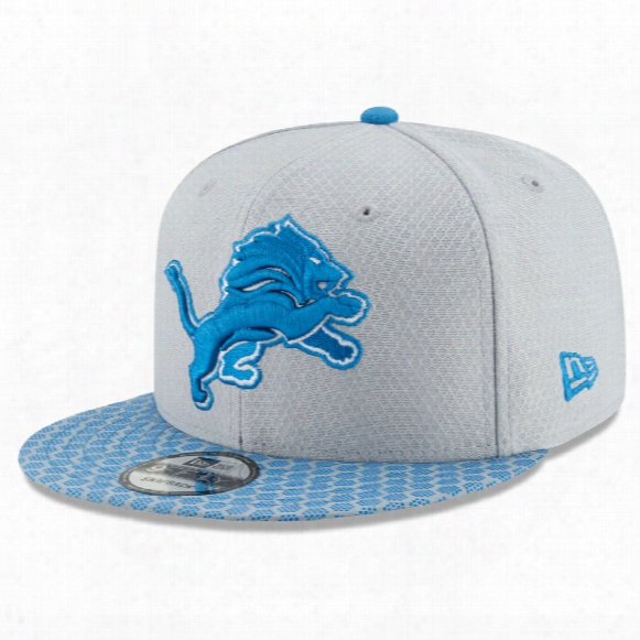 Detroit Lions New Era 9fifty Nfl 2017 Sideline Snapback Cap