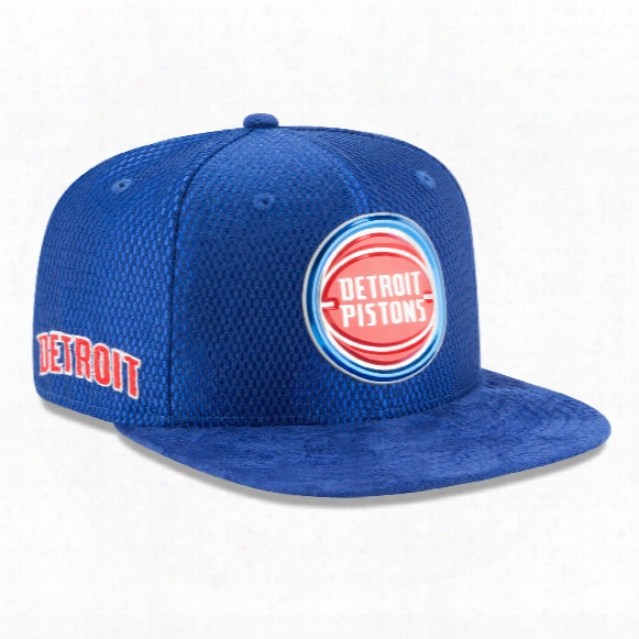 Detroit Pistons New Era Nba 2017 On Court Collection Draft 9fifty Snapback Cap