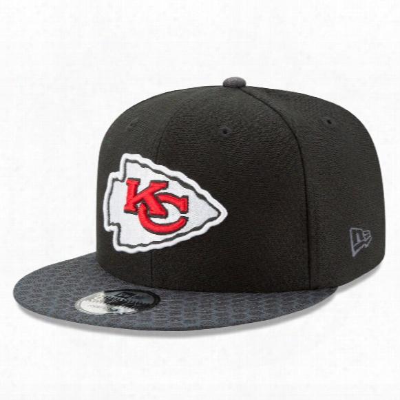 Kansas City Chiefs New Era 9fifty Nfl 2017 Sideline Snapback Cap - Black