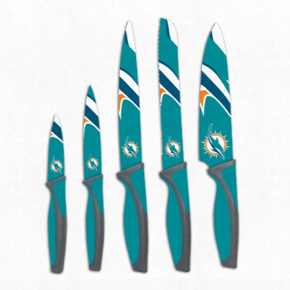 Miami Dolphins 5-piece Kitchen Knife Set