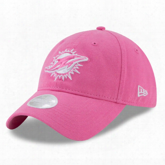 Miami Dolphins Nfl Women's Preferred Pick Relaxed Fit 9twenty Cap - Pink