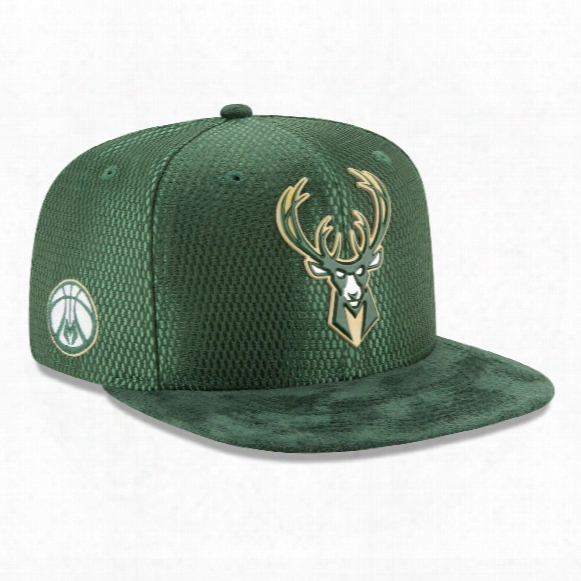 Milwaukee Bucks New Era Nba 2017 On Court Collection Draft 9fifty Snapback Cap
