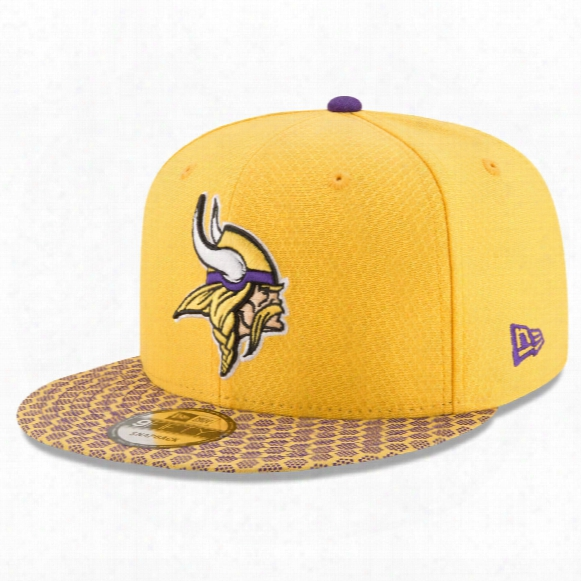 Minnesota Vikings New Era 9fifty Nfl 2017 Sideline Snapback Cap