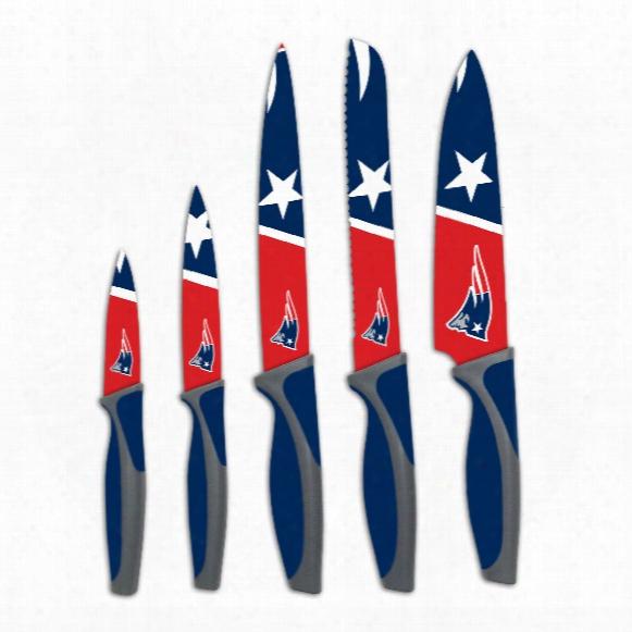 New England Patriots 5-piece Kitchen Knife Set