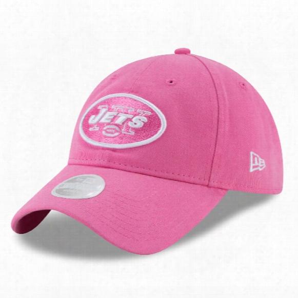New York Jets Nfl Women's Preferred Pick Relaxed Fit 9twenty Cap - Pink