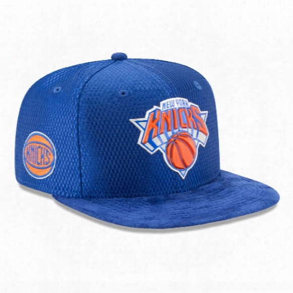 New York Knicks New Era Nba 2017 On Court Collection Daft 9fifty Snapback Cap
