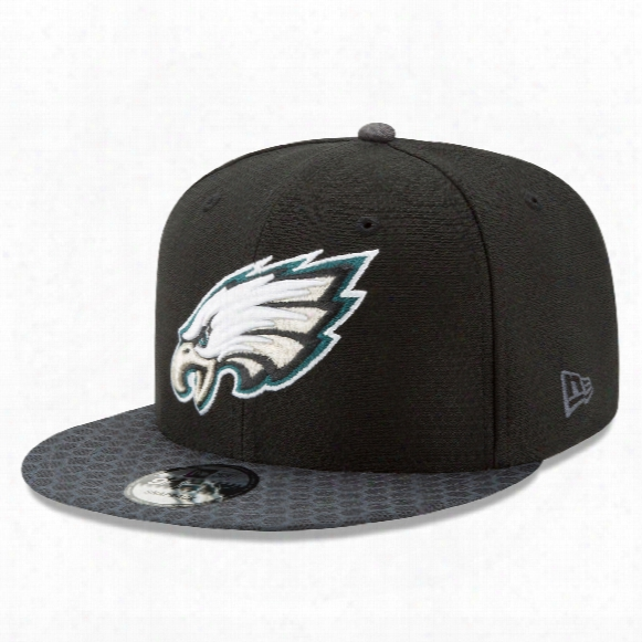 Philadelphia Eagles New Era 9fifty Nfl 2017 Sideline Snapback Cap - Black