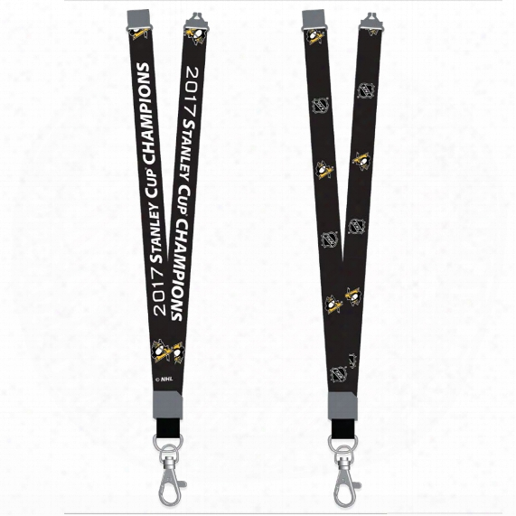 Pittsburgh Penguins 2017 Stanley Cup Champions Lanyard