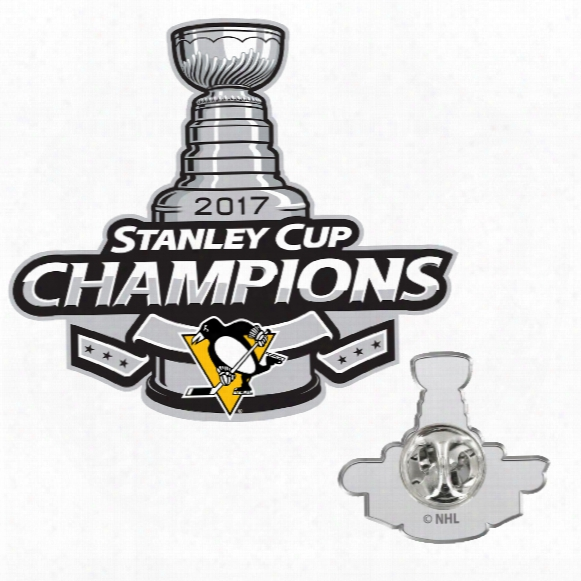 Pittsburgh Penguins 2017 Stanley Cup Champions Logo Lapel Pin