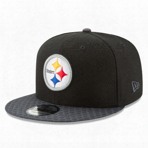 Pittsburgh Steelers New Era 9fifty Nfl 2017 Sideline Snapback Cap - Black