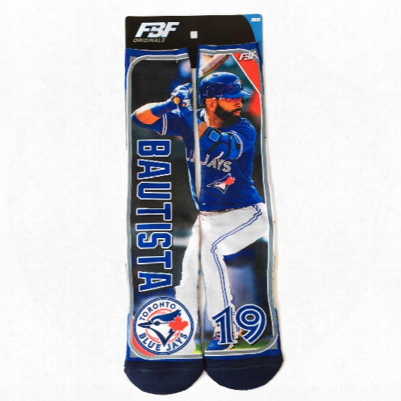 Toronto Blue Jays Jose Bautista Mlb Player Photo Trading Card Crew Socks