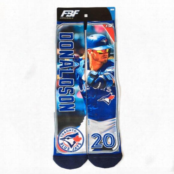 Toronto Blue Jays Josh Donaldson Mlb Player Photo Trading Card Crew Socks