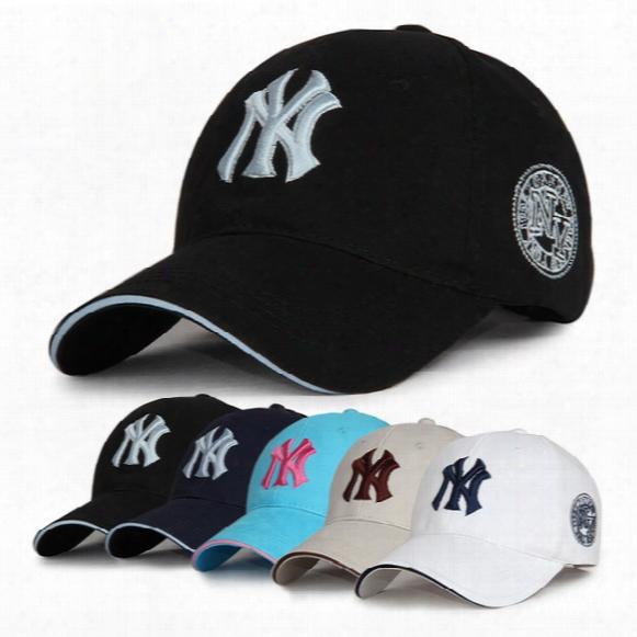 10 Colors Yankees Hip Hop Mlb Snapback Baseball Caps 100% Cotton Embroidery Shade Ny Hats Dome Adustable Casual Ball Caps Dhl Free Shipping