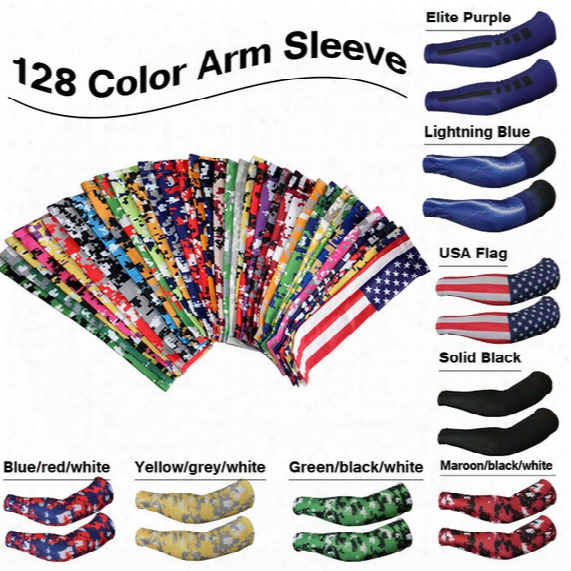 128 Color Sports Compression Arm Sleeves Youth Adult Baseball Football Basketball Ree Dhl