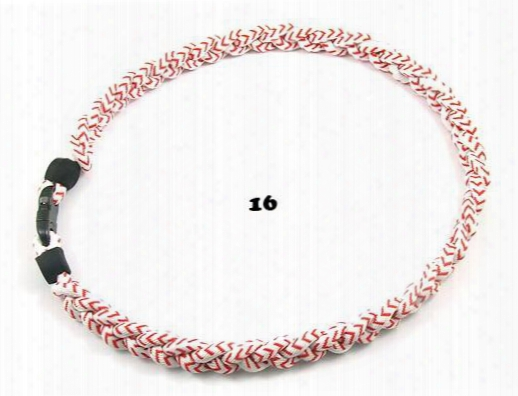 2015 Germanium Titanium Trpile Braided Titanium Necklace American Baseball Rope Titanium Necklace