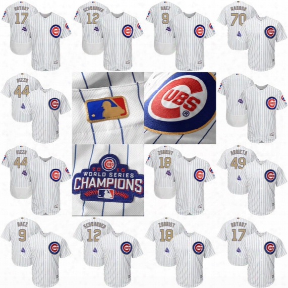 2016 Chicago Cubs World Series Champions Gold Program Jersey Joe Maddon Jake Arrieta Anthony Rizzo Kris Bryant Kyle Schwarber Javier Baez