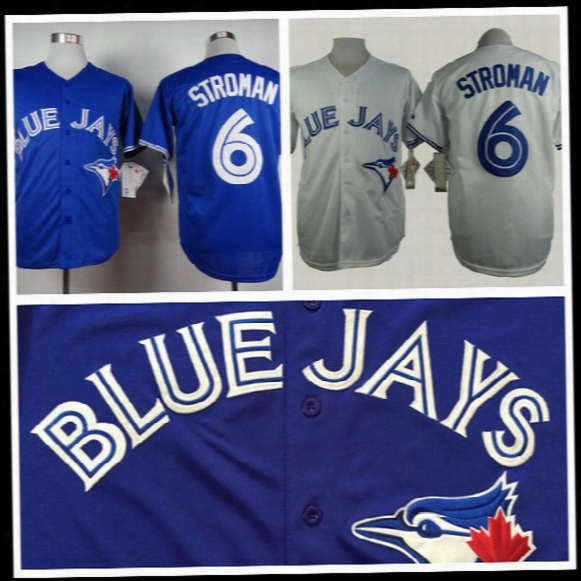 2016 New Cheap Mens's Authentic Toronto Blue Jays Jersey #6 Marcus Stroman Baseball Jerseys White Blue Gray,embroidery,a+++ Quality,s~3xl
