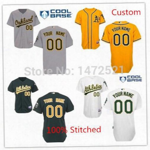 2016 New Custom Oakland Athletics Authentic Embroidery Stitched Onfield Cool Base Baseball Custom,personalized Jerseys,top Quality M To 5xl