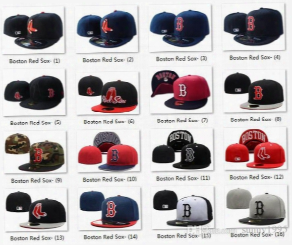 2017 All Teams Classic Navy Blue Boston Red Sox Fitted Cap Embroidered Team Logo Baseball Cap On Field Sport Fit Hats For Sale