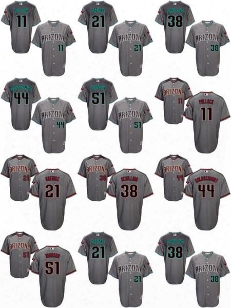 2017 Arizona Diamondbacks Jerseys #11 Pollock #21 Greinke #38 Schilling #44 Goldchmidt #51 Johnson Authentic Baseball Jerseys ,free Shipping