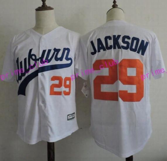 2017 Auburn Tigers Bo Jackson College Baseball Jerseys #29 Bo Jackson Stitched University Baseball Jersey Best Quality S-xxxl
