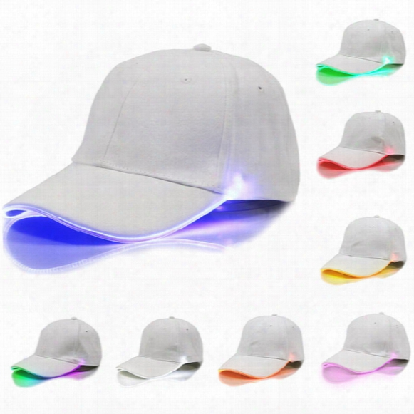 2017 Baseball Hats Led Luminous Party Fiber Optic Hat Women Men Hockey Snapback Basketball Ball Caps Unisex Visor Tourism Wx-h01