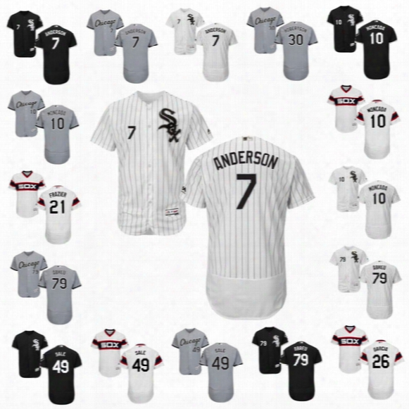 2017 Chicago White Sox Jersey 7 Tim Anderson 10 Yoan Moncada #35 Frank Thomas Chris Sale #21 Frazier Jose Abreu Flexbase Onfiled Jersey