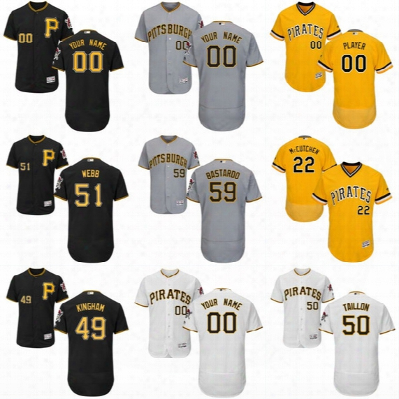 2017 Flex Base Pittsburgh Pirates Custom Jerseys 50 Jameson Taillon 51 Tyler Webb 55 Josh Bell 57 Trevor Williams 59 Antonio Bastardo Jersey