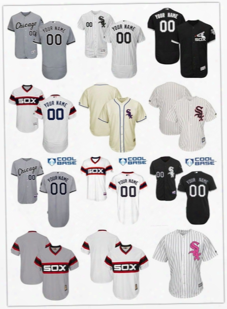 2017 Flexbase Custom Chicago White Sox Men's Kid's Authentic Personalized Cool Base Double Stitched Onfield Baseball Jersey Size S-6xl