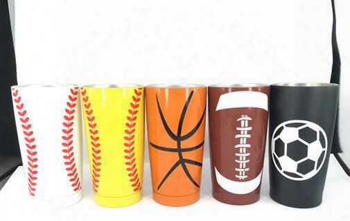 2017 Hot 30oz Baseball Softball Sprot Ramblers Tumblers 304 Stainless Steel Mugs Beer Car Cups Gifts