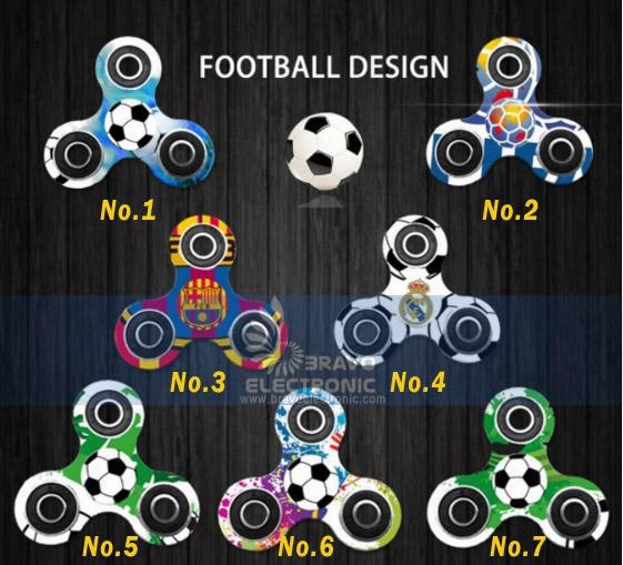 2017 Hot Fidget Spinner Football Baseball Han Dspinner For Decompression Finger Toys With Retail Box Fee Dhl Fast Shipping