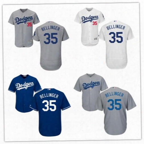 2017 Los Angeles Dodgers Jerseys 35 Cody Bellinger Jersey Flexbase Cool Base Stitched Baseball White Grey Blue