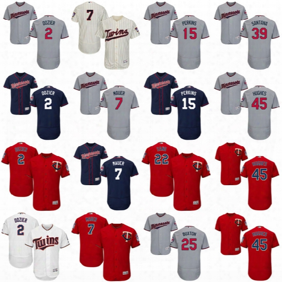 2017 Minnesota Twins 2 Brian Dozier 7 Joe Mauer 22 Miguel Sano 24 Trevor Plouffe 48 Torii Hunter 52 Byung-ho Park Flexbase Jerseys