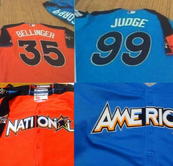 2017 Mlb All-star Men's Yankees #99 Aaron Judge #35 Cody Bellinger Jersey