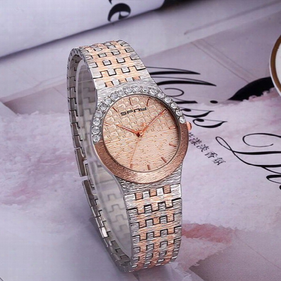 2017 New Luxury Style Women Watches Fashion Crystal Stainless Steel Quartz Watch For Ladies Femme Montre Relojes De Marca Casual Wristwatch