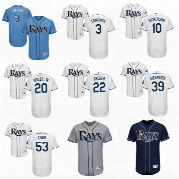2017 Tampa Bay Rays 3 Evan Longoria 8 Desmond Jennings 10 Corey Dickerson 20 Steven Souza 22 Chris Archer Kevin Kiermaier Flexbase Jerseys