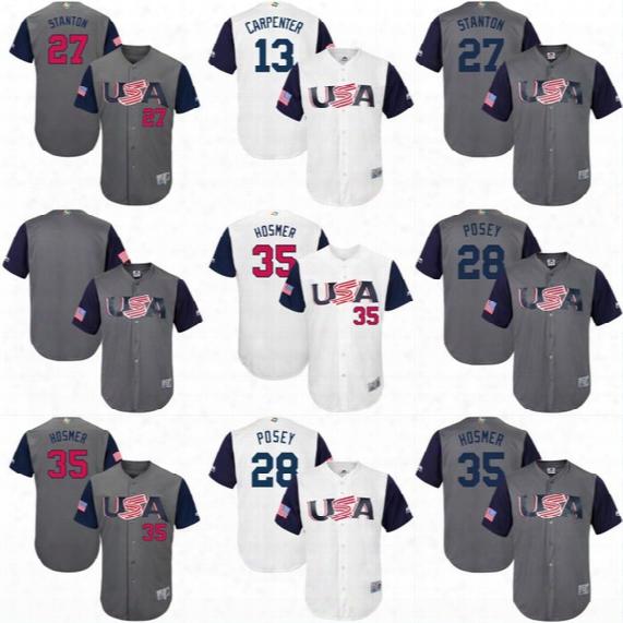 2017 Usa World Baseball Classic Wbc Jersey 10 Adam Jones 24 Andrew Miller 28 Buster Posey 32 Michael Fulmer 44 Paul Goldschmidt Jerseys