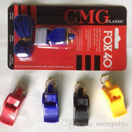 240pc Edcgear Fox40 Whistle Plastic Fox 40 Soccer Football Basketball Hockey Baseball Sports Classic Referee Whistle Survival Outdoor 1518
