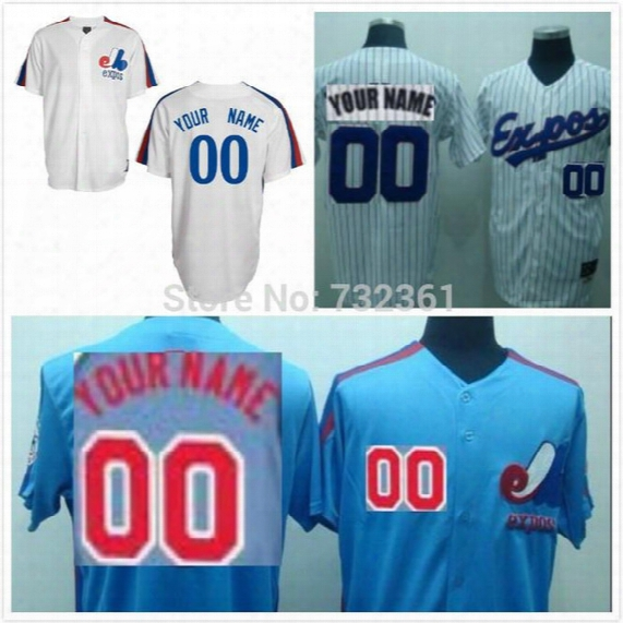 30 Teams- Free Shipping Custom Montreal Expos Jerseys 2014 Personalized Stiched On-field Baseball Jerseys For Men(m-3xl) Women And Youth