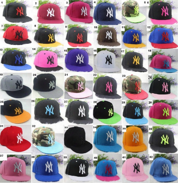 42 Colors Yankees Hip Hop Mlb Snapback Baseball Caps Ny Hats Mlb Unisex Sports New York Women Casquette Men Casual Headware