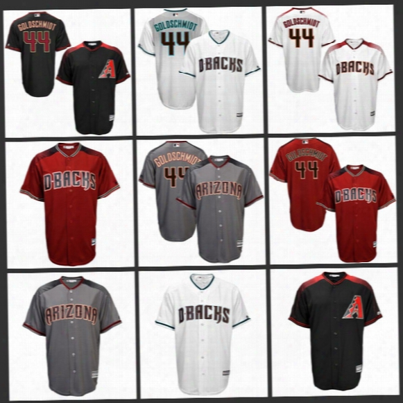 #44 Paul Goldschmidt Jersey Nick Ahmed Phil Gosselin Jake Lamb Chris Owings Socrates Brito Arizona Diamondbacks Cool Base Baseball Jerseys