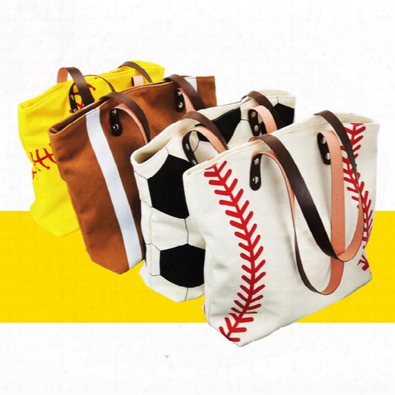 5pcs Brand New Fashion Baseball Totes Canvas Tote Sports Softball Bag