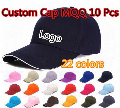 6 Panels Plain Cotton Baseball Caps With Sandwish Adjustable Strapback Custom Printing Embroidery Logo For Adults Sports Hats Mqq 10 Pcs