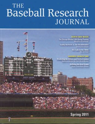 Baseball Investigation Journal (brj), Volume 40 #1
