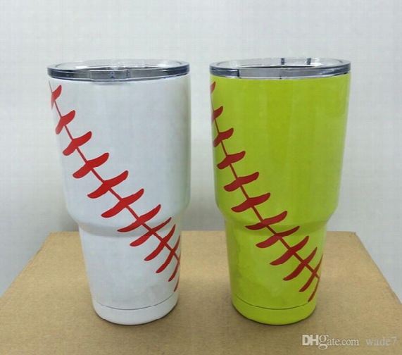 Baseball Softball Mugs Insulation Valuum Cup Tumbler Rambler 30oz Cups Cooler Beer Yetis Mugs