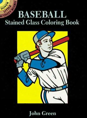 Baseball Stained Glass Coloring Book