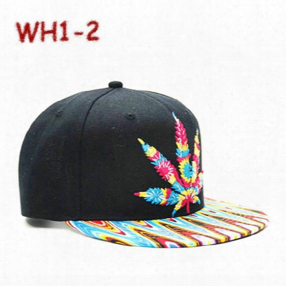 Bob Marley Snapback Rasta Hemp Herb Leaf Pot Flat Bill Snapback Baseball Cap 1 Pc/lot